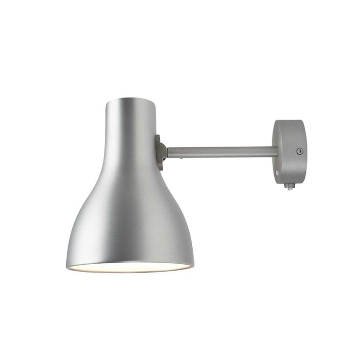 Type 75 væglampe fra Anglepoise i børstet aluminium