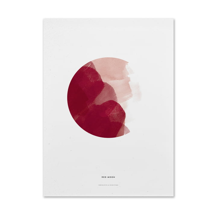 Red Moon plakat fra Paper Collective