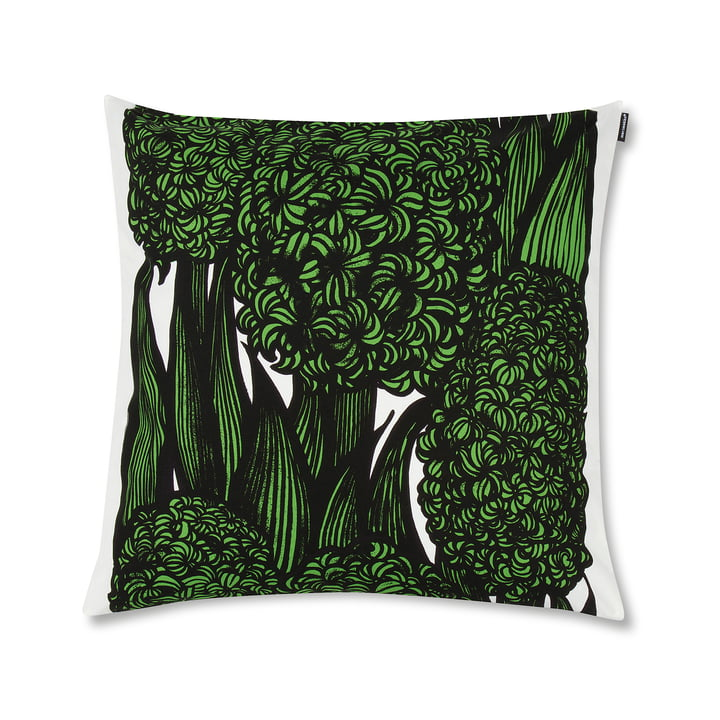 Marimekko – Hyasintti pudebetræk, 50 x 50 cm, grøn/hvid/sort