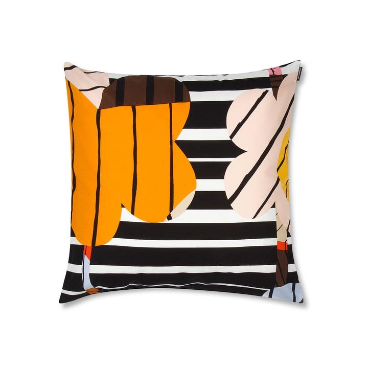 Sommar pudebetræk på 50 x 50 cm fra Marimekko i orange/hvid/sort