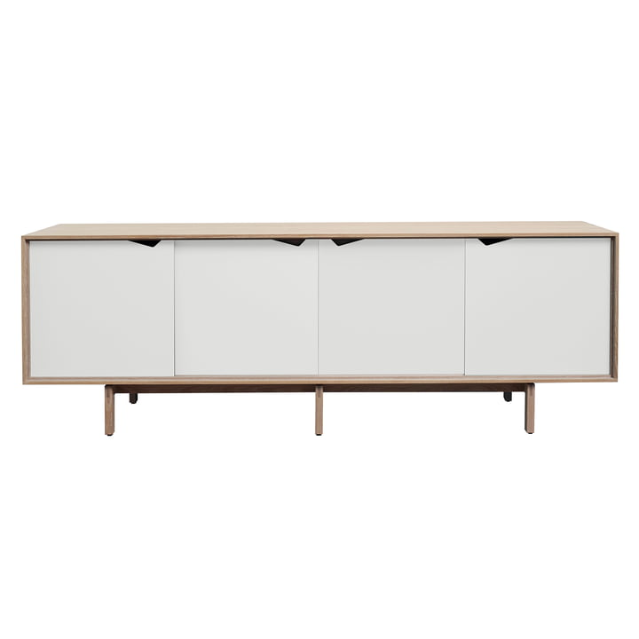 S1 skænk fra Andersen Furniture i sæbebehandlet eg / låger i hvid