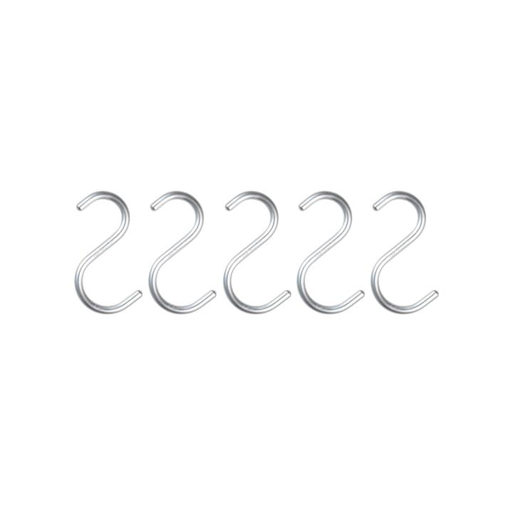 Nomess – S-krog mini, aluminium sølv (sæt med 5 stk.)