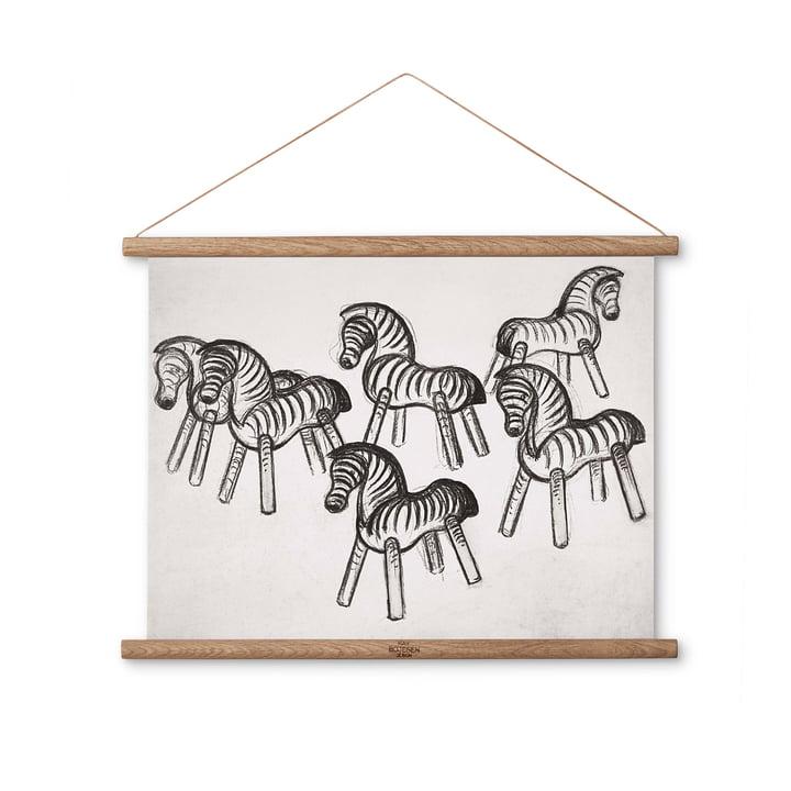 Zebra tegning 40 x 30 cm af Kay Bojesen Denmark