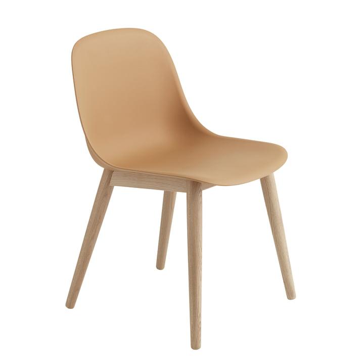 Muuto - Fiber Side Chair Wood Base, ochre / eg