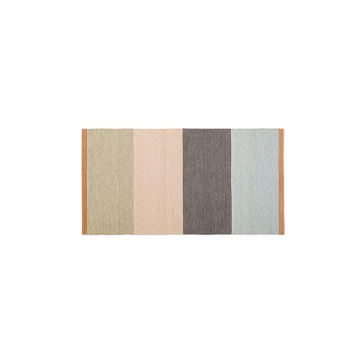 Design House Stockholm – Fields løber, 70 x 130 cm, beige/pink/brun/blå