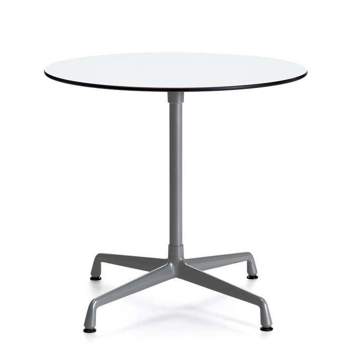 Kontraktbord udendørs runde af Vitra i hvid / mørkegrå