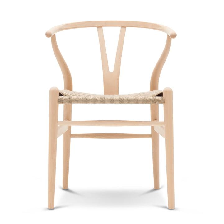 CH24 Wishbone Chair af Carl Hansen i sæbe bøg / naturlig væv