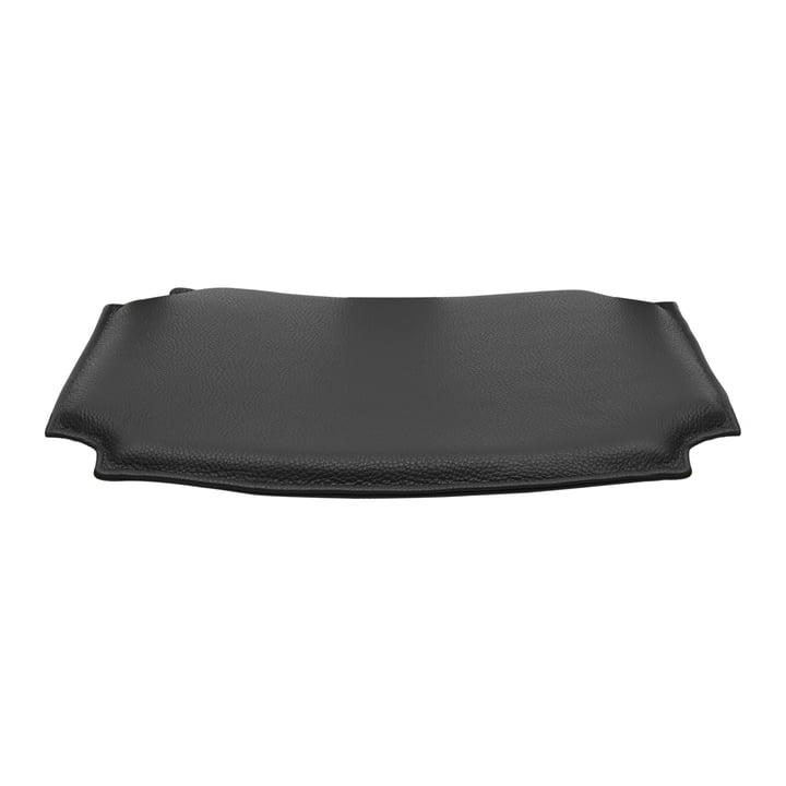 Læderpude til CH24 Wishbone Stol af Carl Hansen i sort