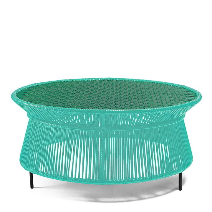 ames – lavt caribe sidebord, mintgrøn/grøn/sort