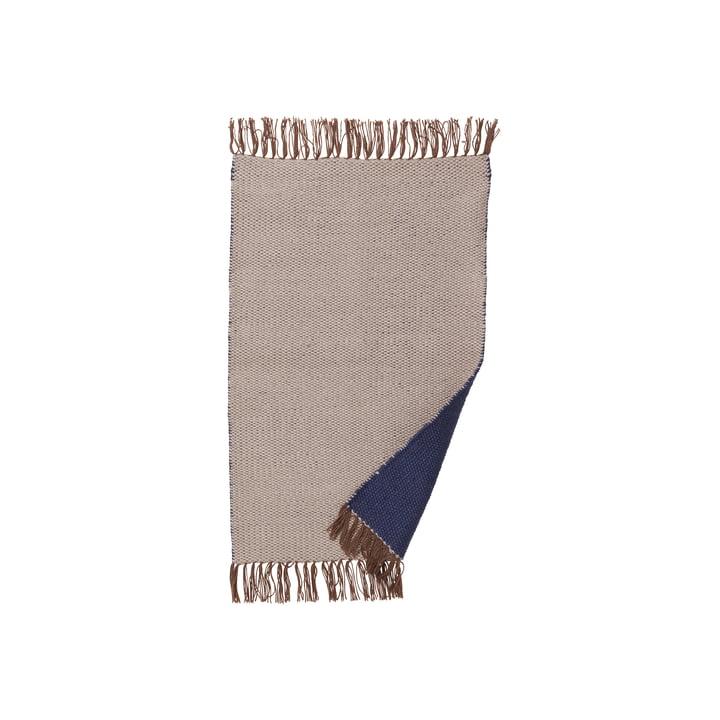 ferm LIVING – Nomad tæppe, lille, 60 x 90 cm, mørkeblå