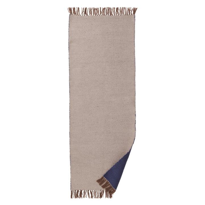 ferm LIVING – Nomad tæppe, stor, 70 x 180 cm, mørkeblå