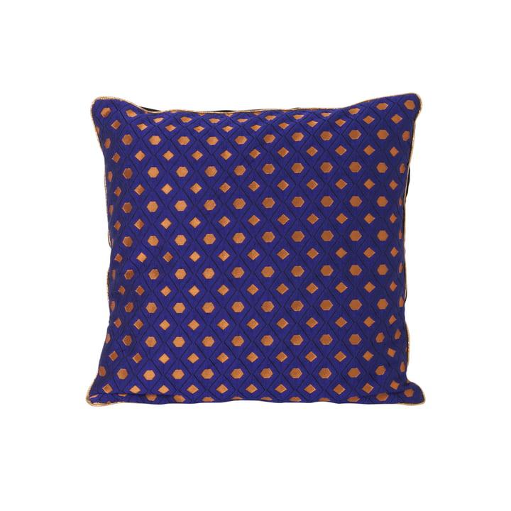 ferm LIVING – salonpude med mosaik, 40 x 40 cm, blå