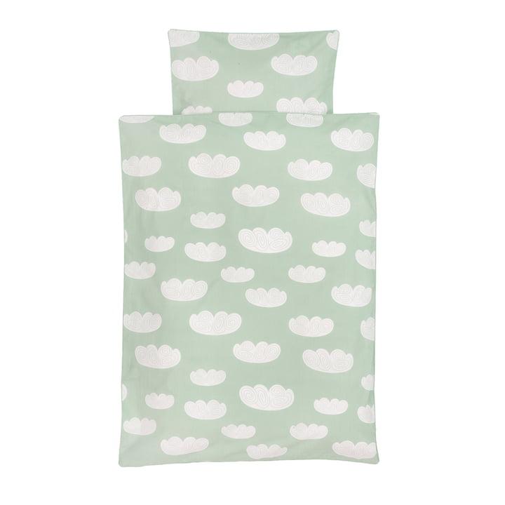 Cloud juniorsengetøj fra ferm LIVING i mintgrøn