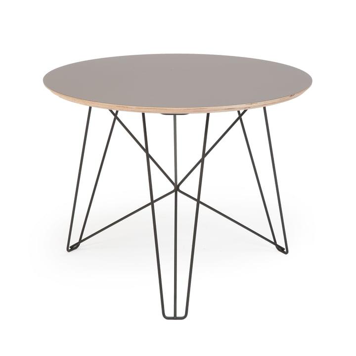 Spectrum – IJhorst sofabord L, Ø 60 cm, sort (RAL 9005)/grå