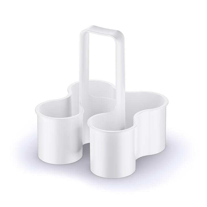 Koziol – Caddy flaskeholder i hvid