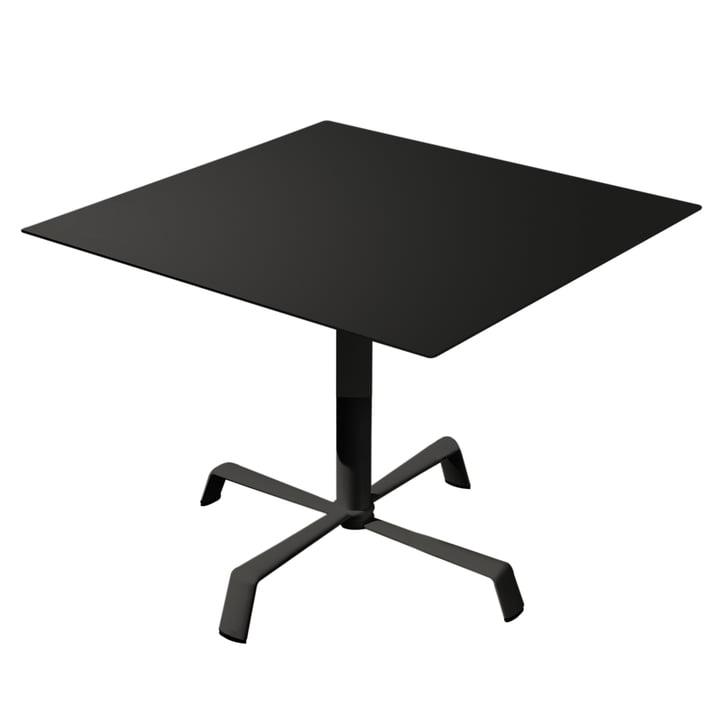 Tonik bord 70 x 70 cm, ramme Elica fra Fast i sort