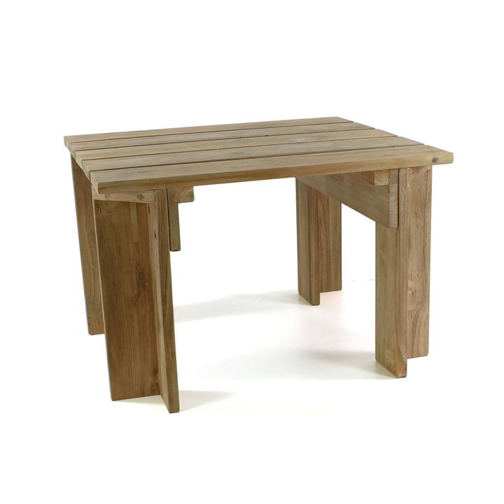 Batten Beach bord designet af Jan Kurtz i ubehandlet teaktræ