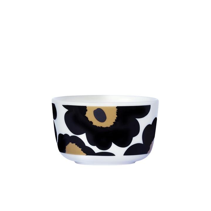 Marimekko – Oiva Unikko skål 250 ml, sort / hvid