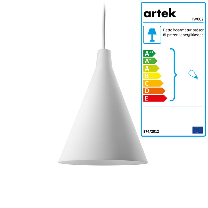 Artek – Triennale TW002 pendel, hvid