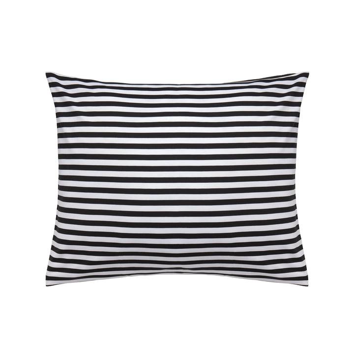 Tasaraita pudebetræk 50 x 60 cm fra Marimekko i sort / hvid