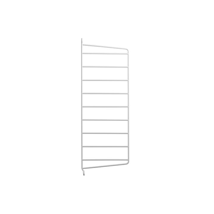 Vægstige til strenghylde 50 x 20 cm med snor i hvid