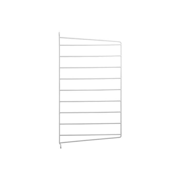 Væg gavl til String system, 50 x 30 cm fra String i hvid