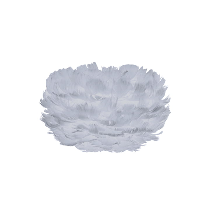 Mini Lamp Shade out of Feathers in Light Grey