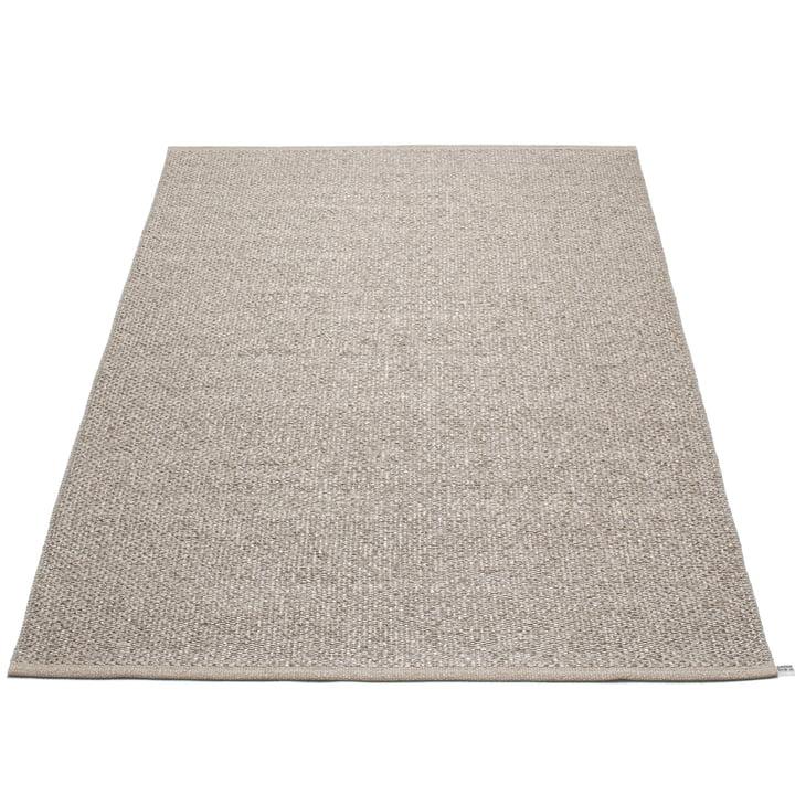 Pappelina – Svea tæppe, 180 x 260 cm, Mud Metallic/Mud