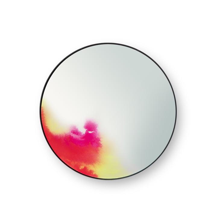 Lille Francis vægspejl fra Petite Friture i pink/gul