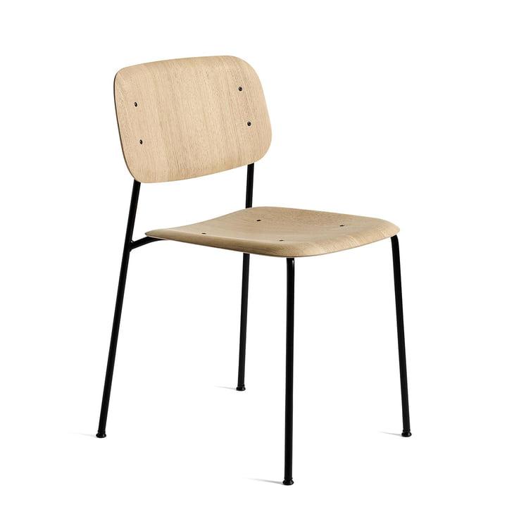 Soft Edge 10 stol fra Hay i matlakeret eg / sort pulverlakeret stål