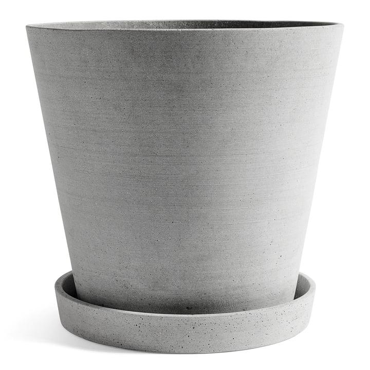 Urtepotte med underskål XXL fra Hay i grå