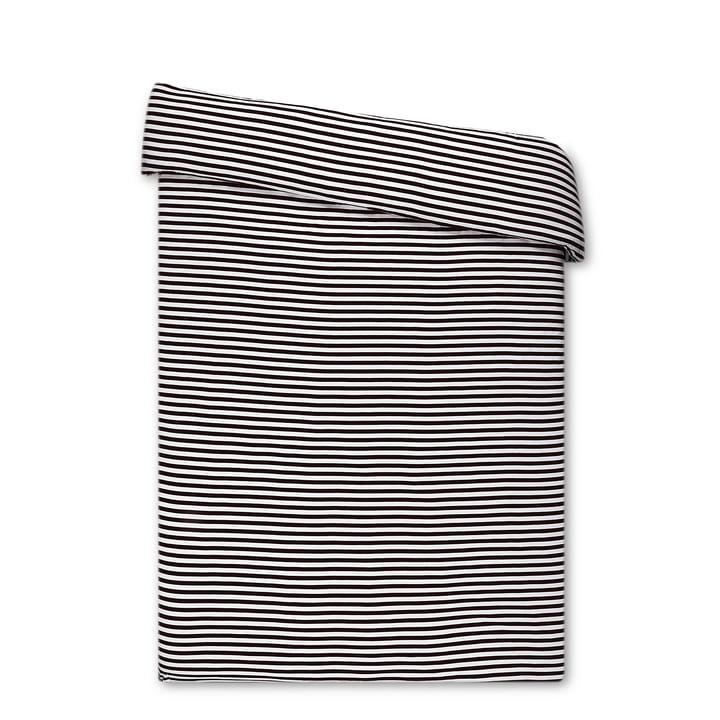 Tasaraita dynebetræk fra Marimekko i sort / hvid