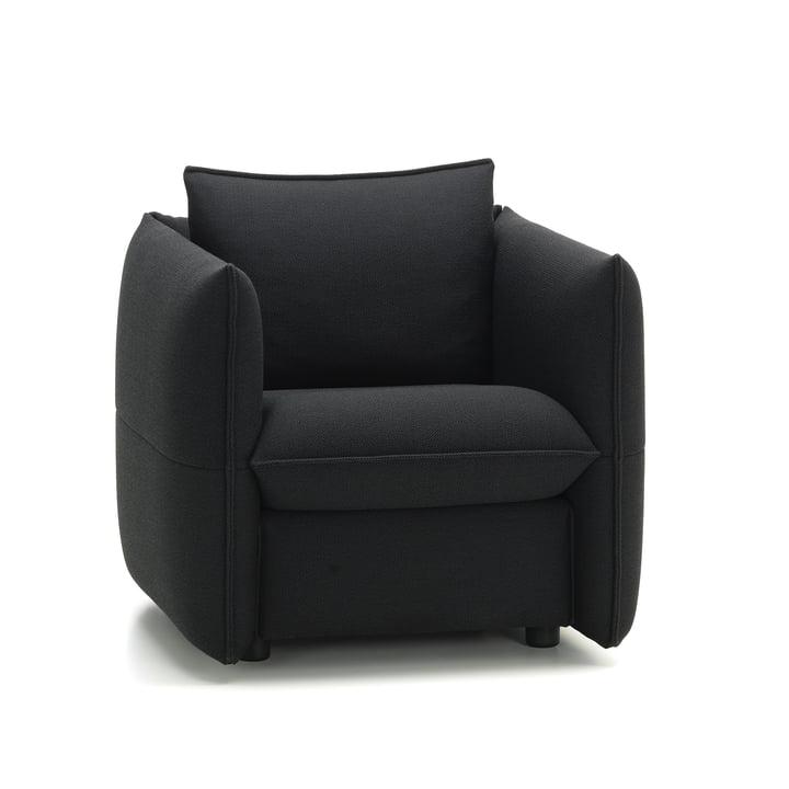 Mariposa Club sofa fra Vitra i stoftypen Plano (62) i farven mørkegrå/nero