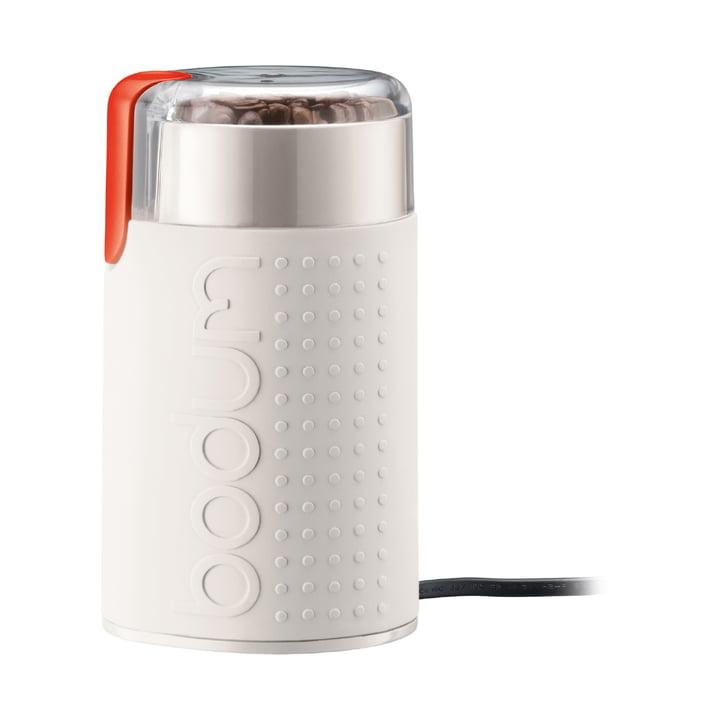 Bistros elektrisk kaffekværn fra Bodum i hvid
