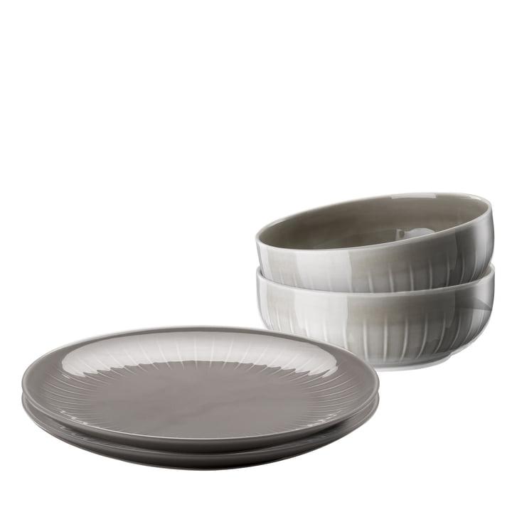Arzberg - Joyn spisestel sæt (4 stk) i grå