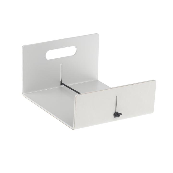 LindDNA – servietholder, metallisk nupolæder / metallisk aluminium