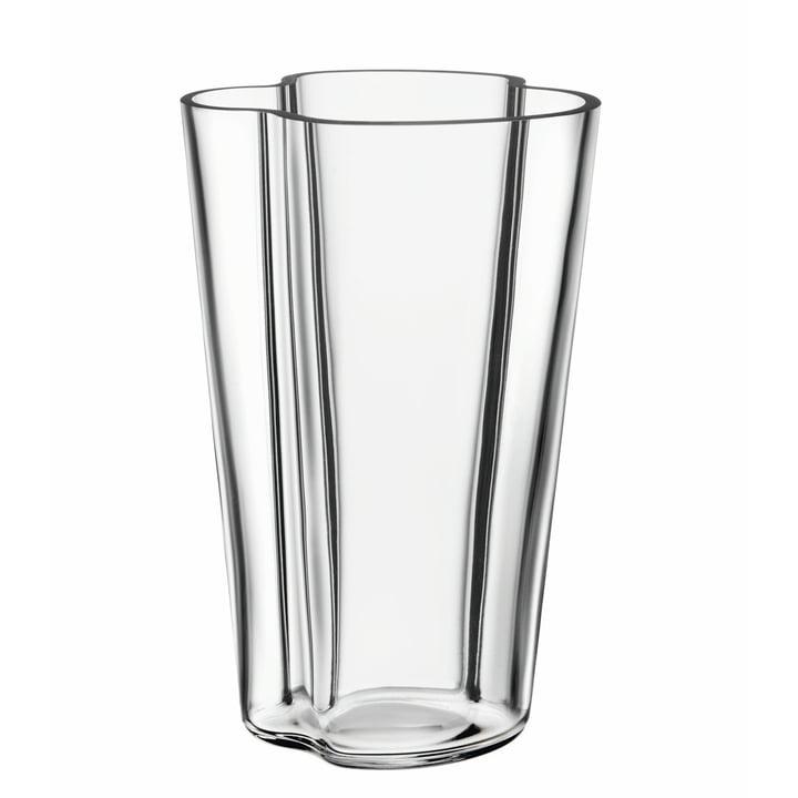 Aalto Vase Finlandia 220 mm fra Iittala i klar
