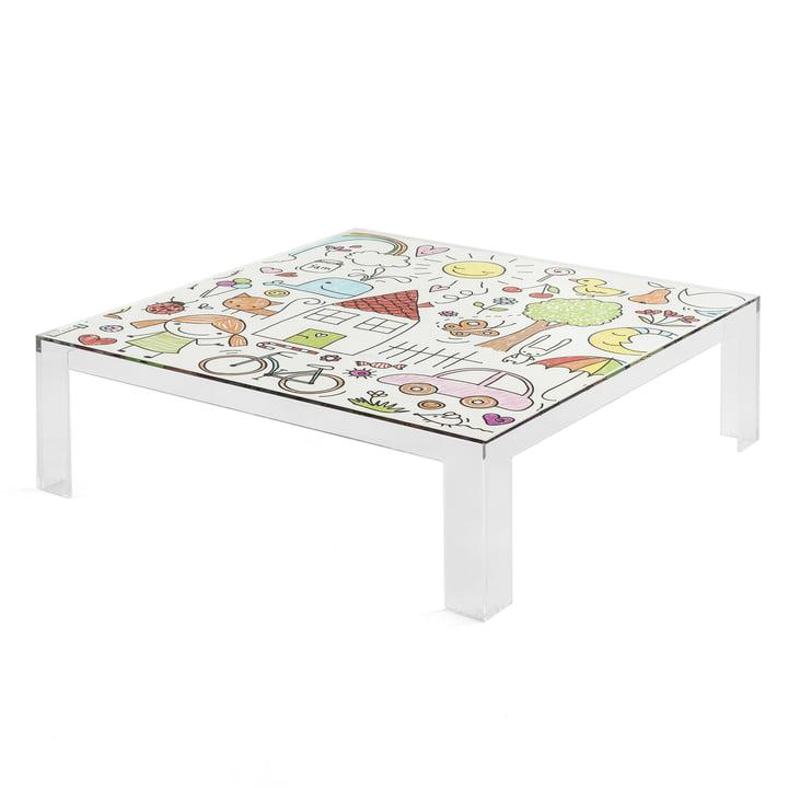 Kartell - gennemsigtige børn bord med et farverigt Design