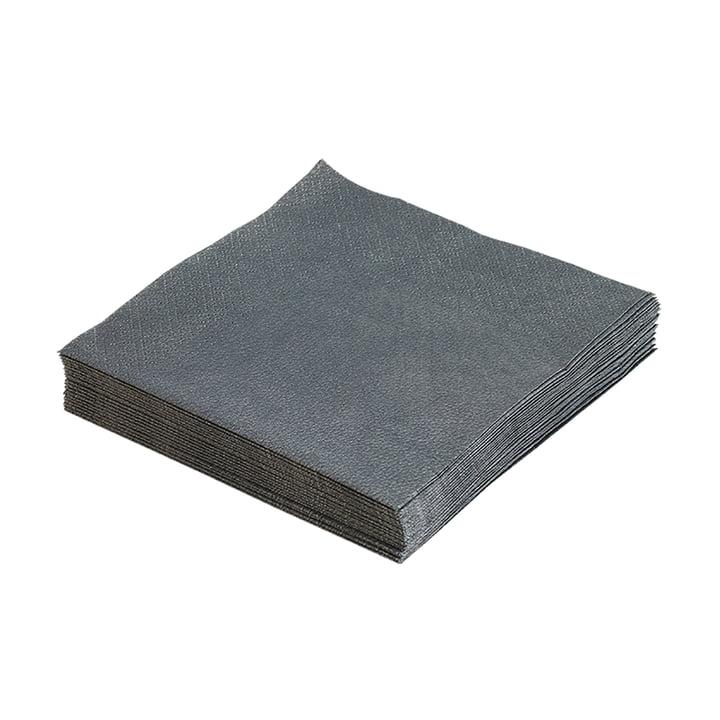 Papirservietter 33 x 33 cm fra LindDNA i antracit (20 stk.)