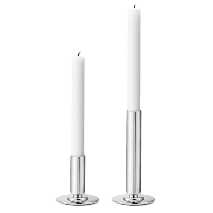 Georg Jensen – Manhattan lysestage, rustfrit stål (sæt med 2)