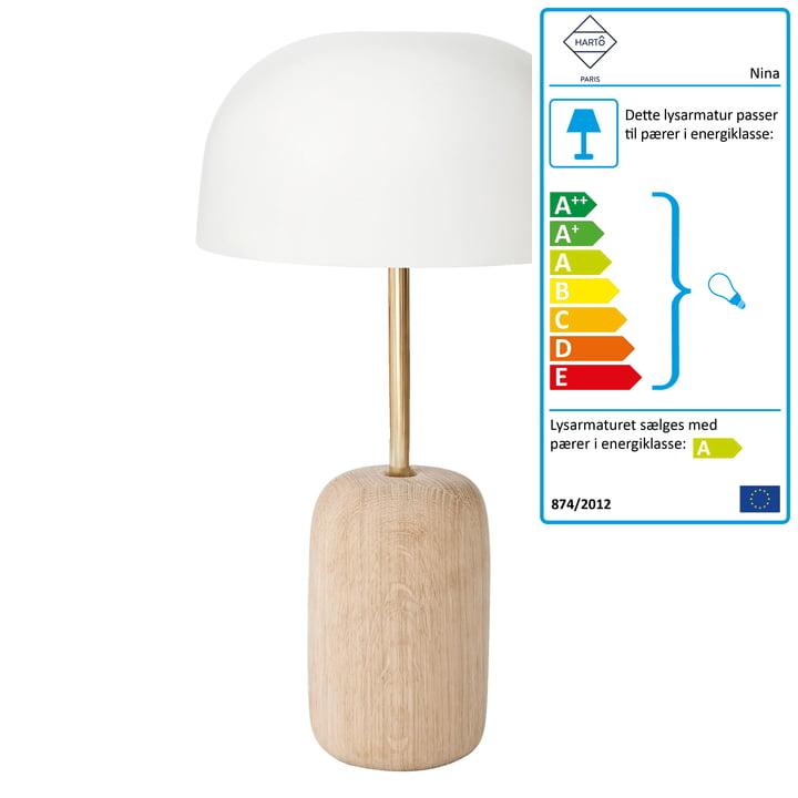 Nina bordlampe fra Hartô i hvid (RAL 9016)