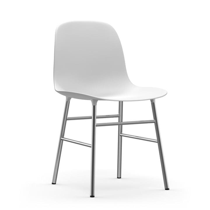 Formstol (krom) af Normann Copenhagen i hvid