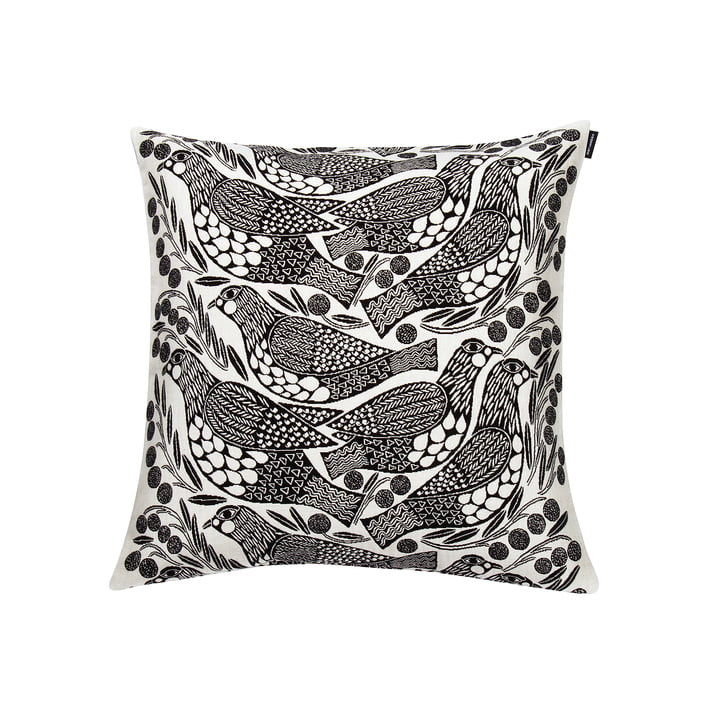 Marimekko – Kiiruna pudebetræk, 45 x 45 cm i sort / hvid