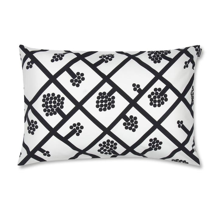 Marimekko – Spaljé pudebetræk, 40 x 60 cm, sort / hvid