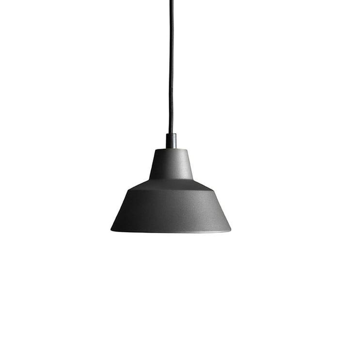 Lavet af hånden - Workshoplampe W1 i antracit sort / sort