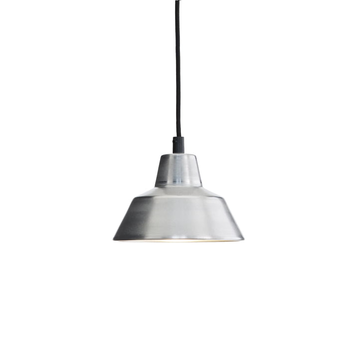 Made by Hand - værkstedslampe W1 i aluminium/sort