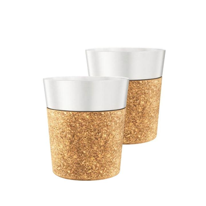 Bistro kaffekrus 0,17 l, porcelæn/kork (sæt med 2 stk.) fra Bodum