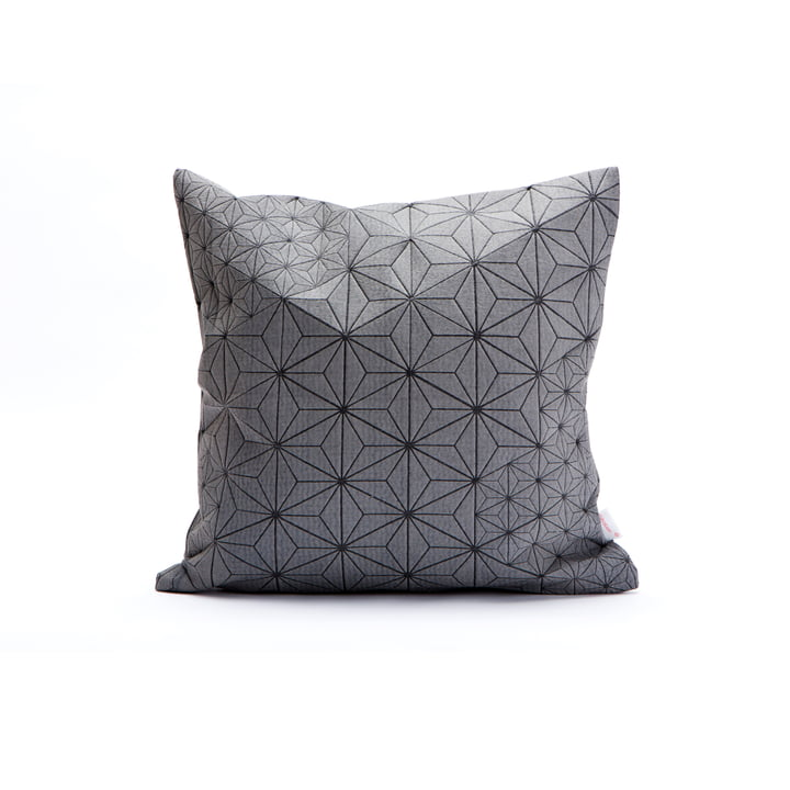Mika Barr – Tamara pudebetræk, 40 x 40 cm, grå/sort