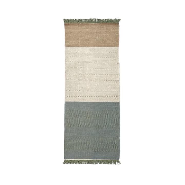 nanimarquina ─ Tres Stripes 80 x 240 cm i salvie