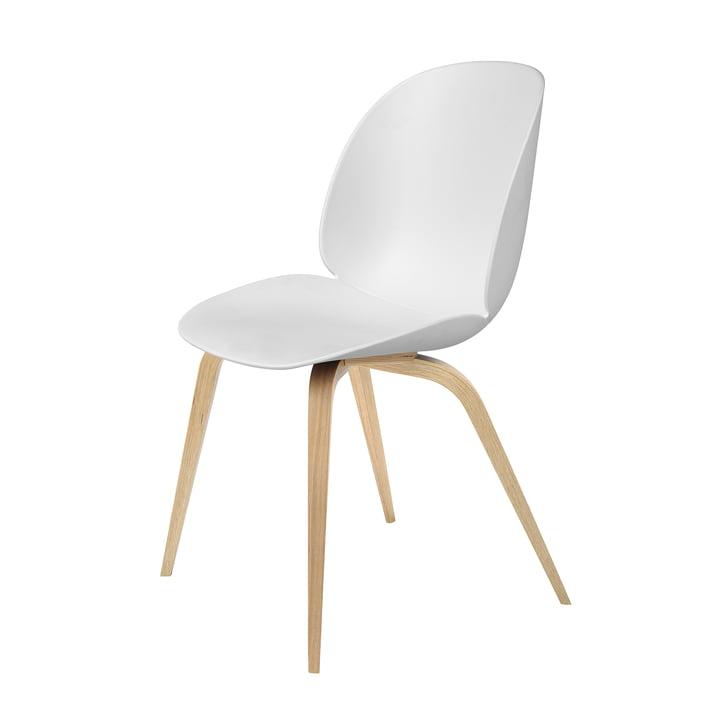 Beetle spisebordsstol med træben i eg/hvid